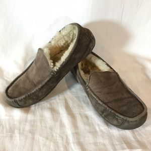 Ugg Men's Ascot Suede Driving Slippers Shoes #5775